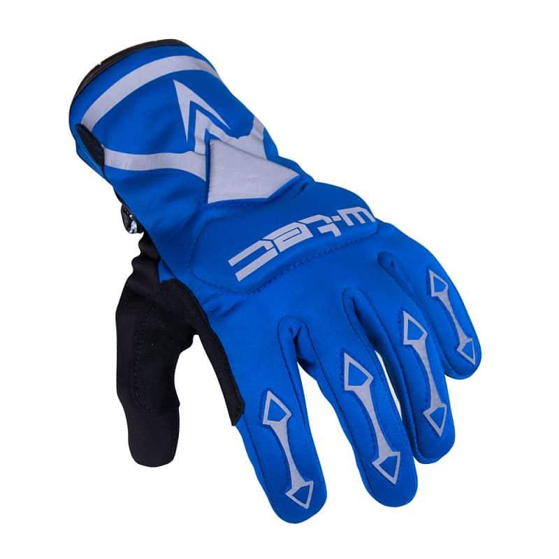 Cyklo a moto rukavice W-TEC Belter B-6044 Barva modrá, Velikost XS