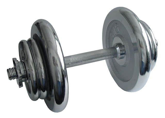 ACRA Nakládací činka jednoruční, chromová 17 kg