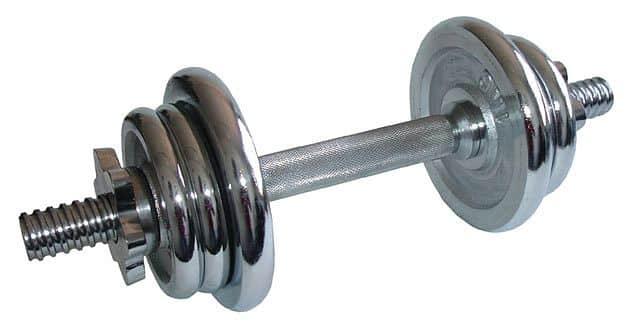 ACRA Nakládací jednoruční činka 7 kg chromová