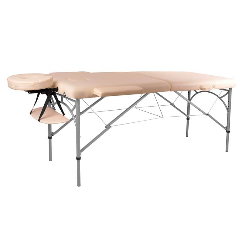 Levně Masážní stůl inSPORTline Tamati 2-dílný hliníkový Barva krémově bílá
