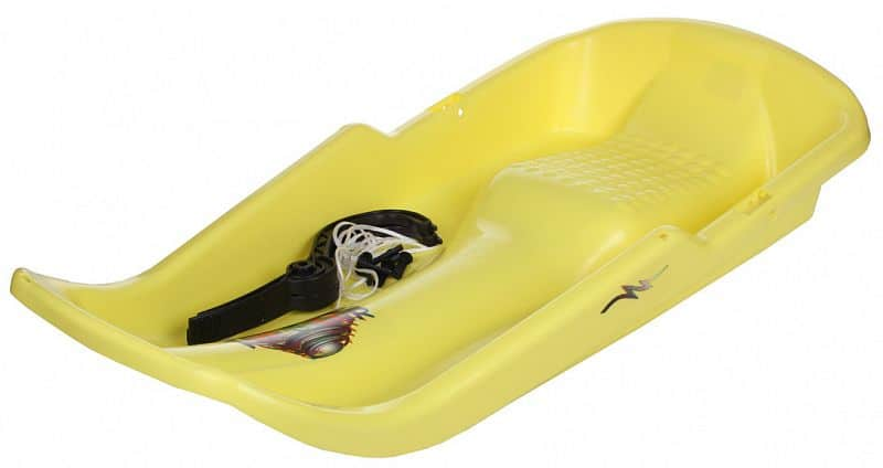 plastové boby Twister s brzdami barva: žlutá