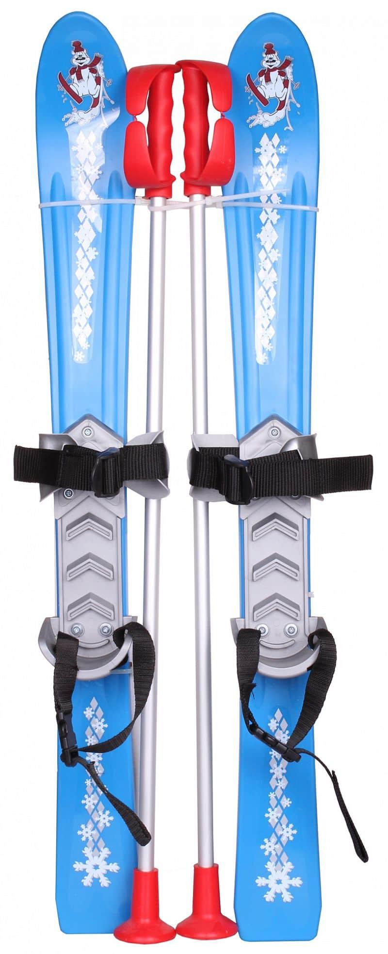 dětské mini lyže Baby Ski 70 cm plastové, s hůlkami barva: červená