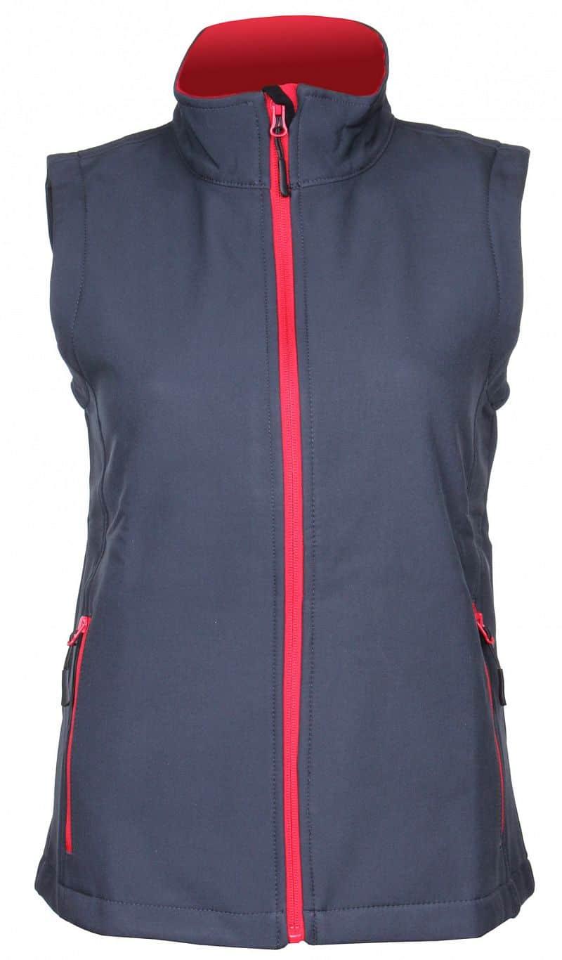 Promo dámská softshellová vesta barva: šedá;velikost oblečení: S