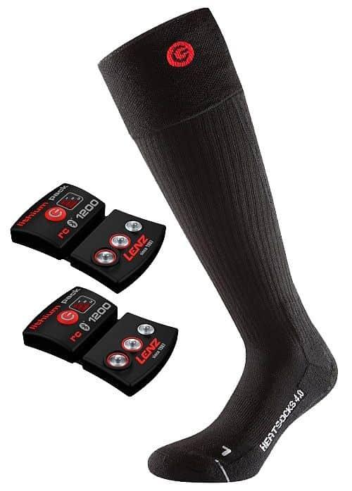 Heat Sock 4.0 Set vyhřívané ponožky barva: černá;velikost oblečení: L