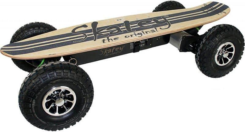 Elektrický longboard Skatey 900 Off-road wood jeans - servis u zákazníka Skatey
