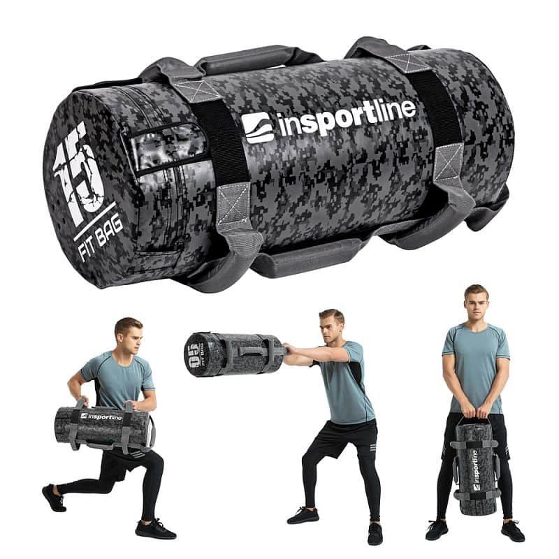 Posilovací vak s úchopy inSPORTline Fitbag Camu 15 kg