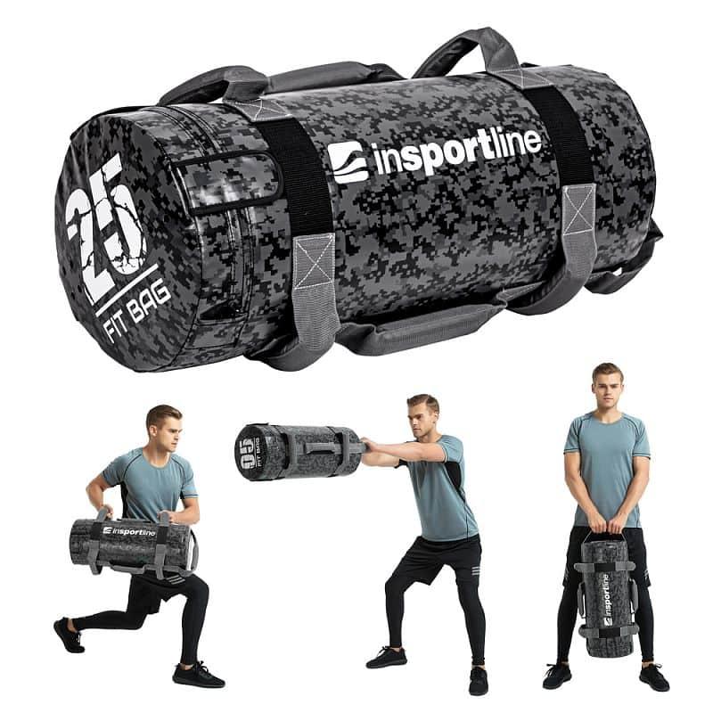 Posilovací vak s úchopy inSPORTline Fitbag Camu 25 kg