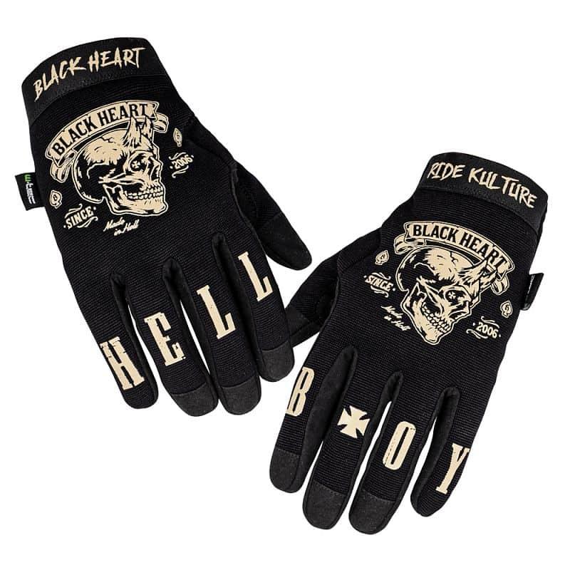 Moto rukavice W-TEC Black Heart Rioter Barva černá, Velikost XXL