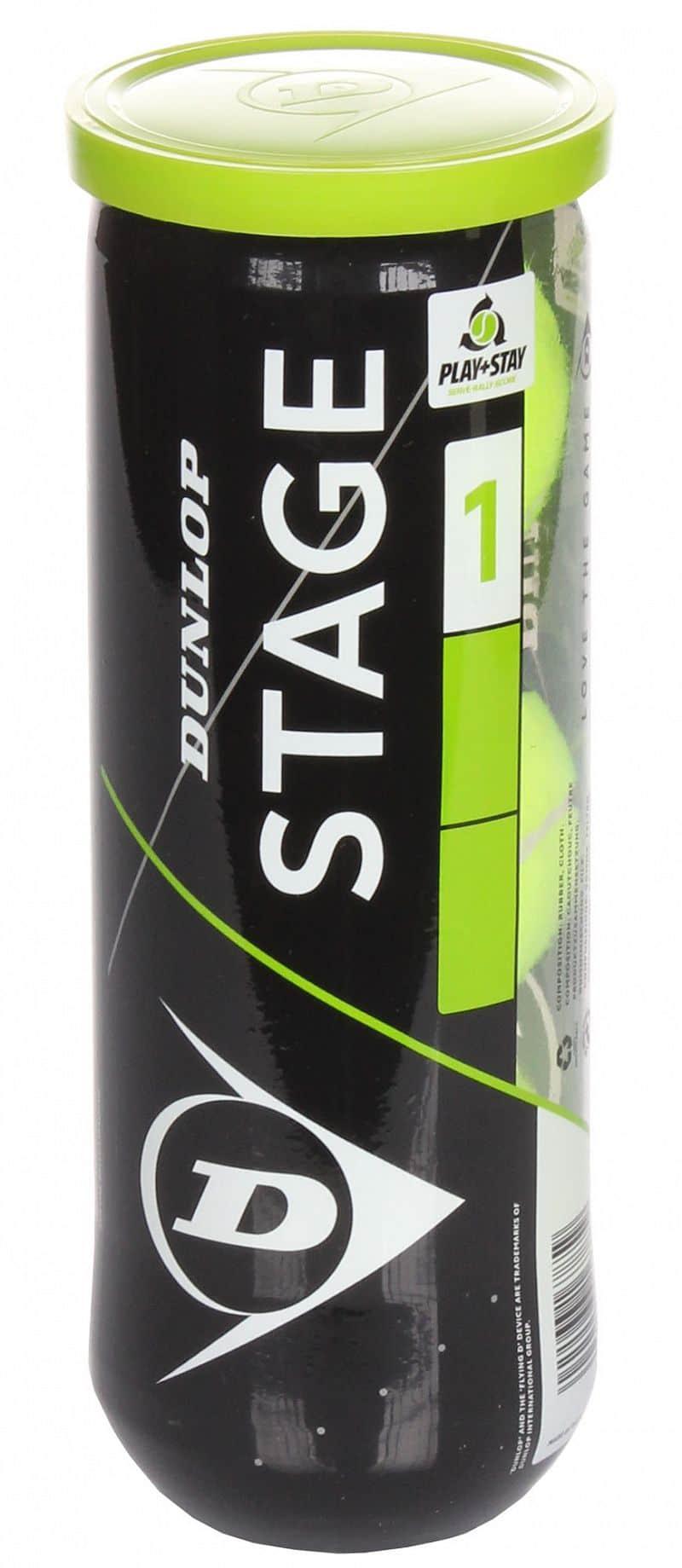 Stage 1 Green Mini tenisové míče, středně tvrdé, 3 ks balení: 3 ks