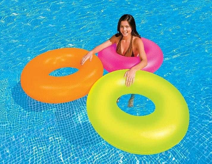 Kruh plavací INTEX NEON 91cm oranž. - oranžová