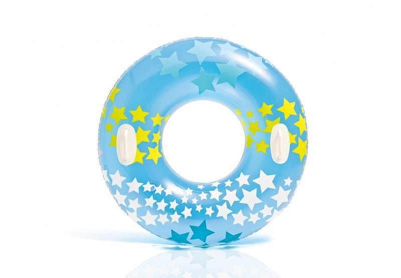 Kruh plavecký Intex 59256 nafukovací 91 cm - Modrá