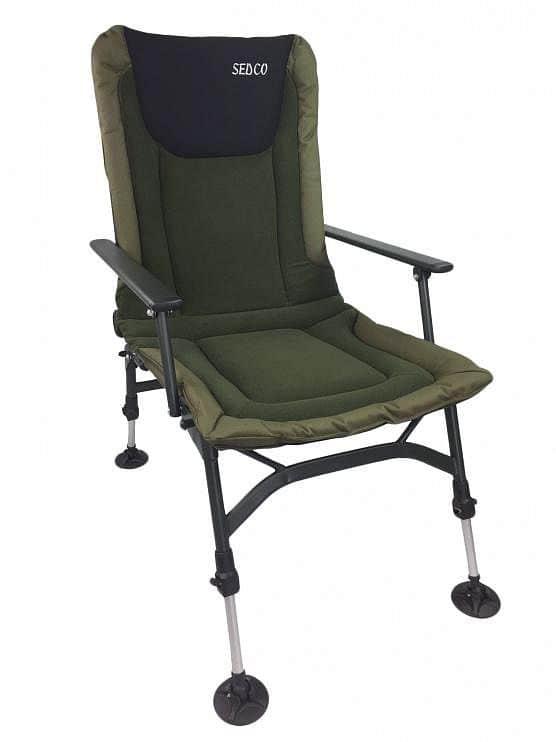 Levně Rybářská židle s opěrkou SEDCO FISHING FLEECE FC005