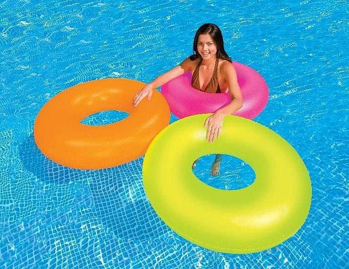 Kruh plavací INTEX 59262 NEON růžová - růžová
