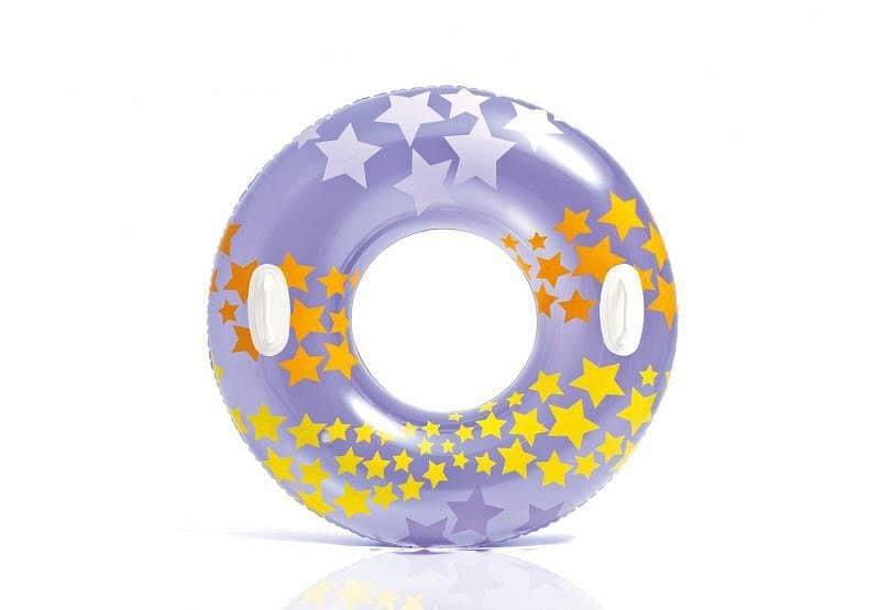 Kruh plavecký Intex 59256 nafukovací 91 cm - Fialová