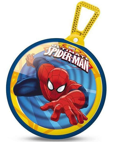 Skákací balón Mondo s držadlem 360 průměr 45 cm Spiderman - Spiderman