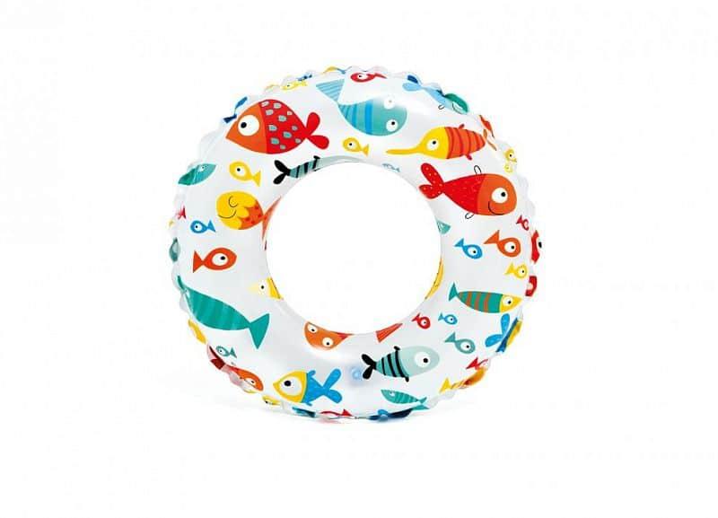 Kruh plavecký INTEX 59241 61cm MOŘSKÝ POTISK - Ryby