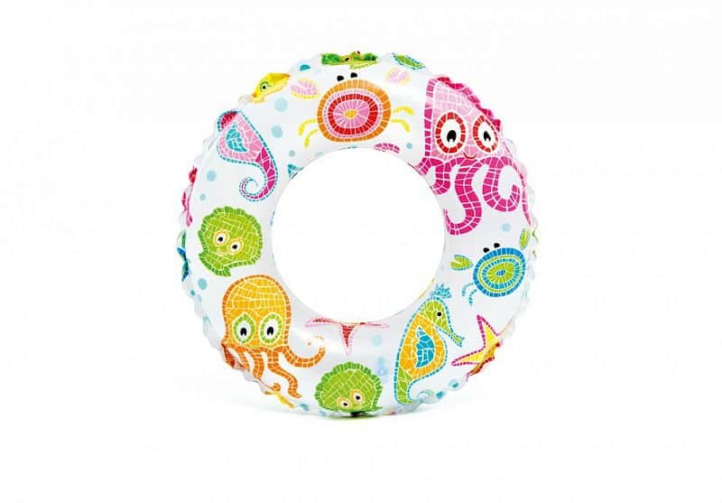Kruh plavecký INTEX 59241 61cm MOŘSKÝ POTISK - Chobotnice
