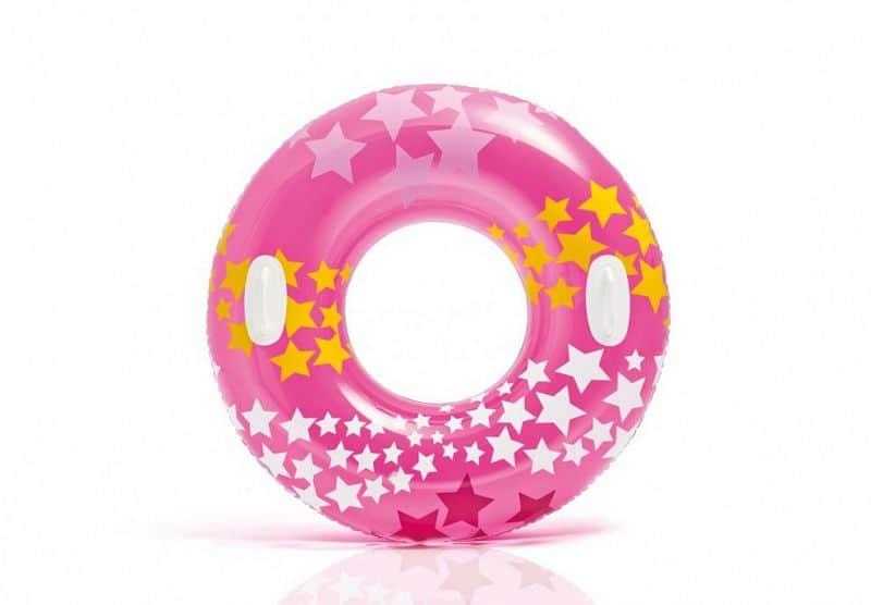 Kruh plavecký Intex 59256 nafukovací 91 cm - Růžová