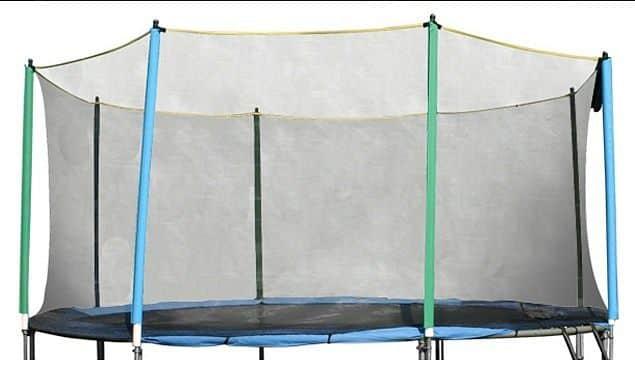 Ochranná síť bez tyčí k trampolínám 244 cm 3 nohy