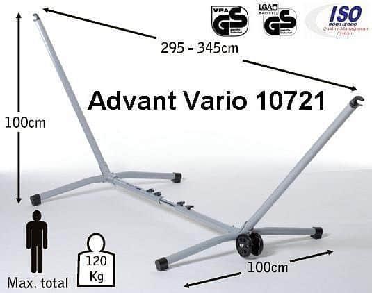 Kovový stojan Advanta VARIO - strieborný, nastaviteľná dĺžka