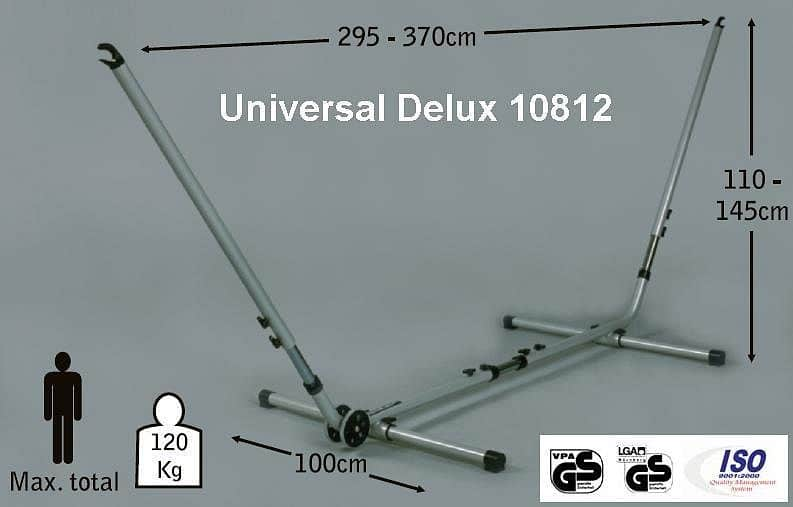 Jobek Kovový stojan UNIVERSAL DELUXE - nastavitelná délka a výška