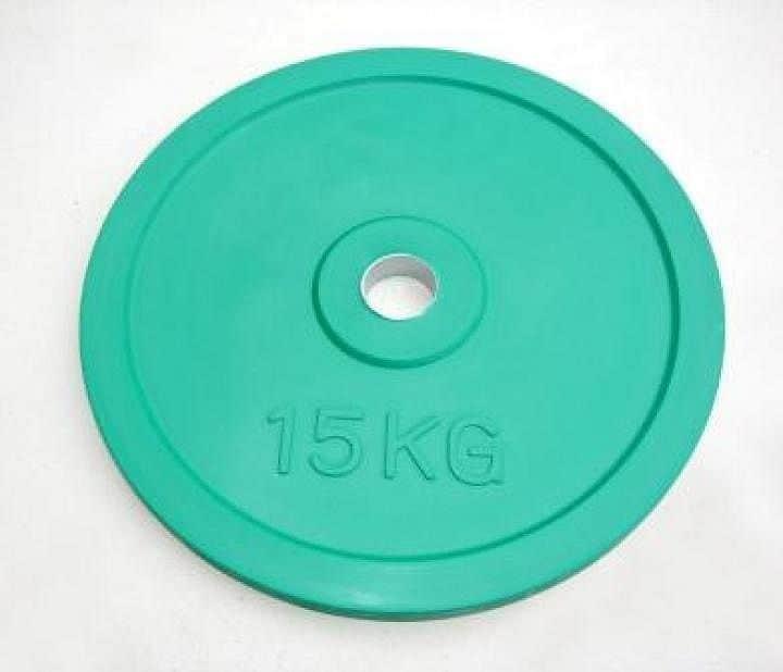 Kotouč 15kg zelený průměr 51mm pogumovaný - 2.jakost