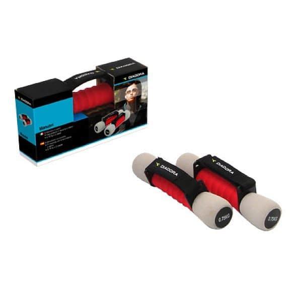 Diadora Soft Dumbbell 1,5 kg - jednoručky Červeno-šedé