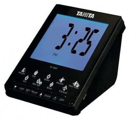 Bezdrátový displej D-1000 k tělesnému analyzátoru s přenosem dat Tanita BC-1000