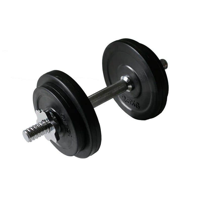 Jednoruční činka ARSENAL 10kg - pogumovaný povrch SET 3031
