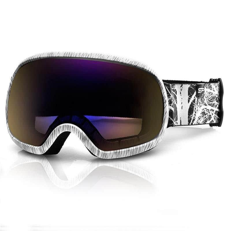 Spokey PARK lyžařské brýle šedo-bílé