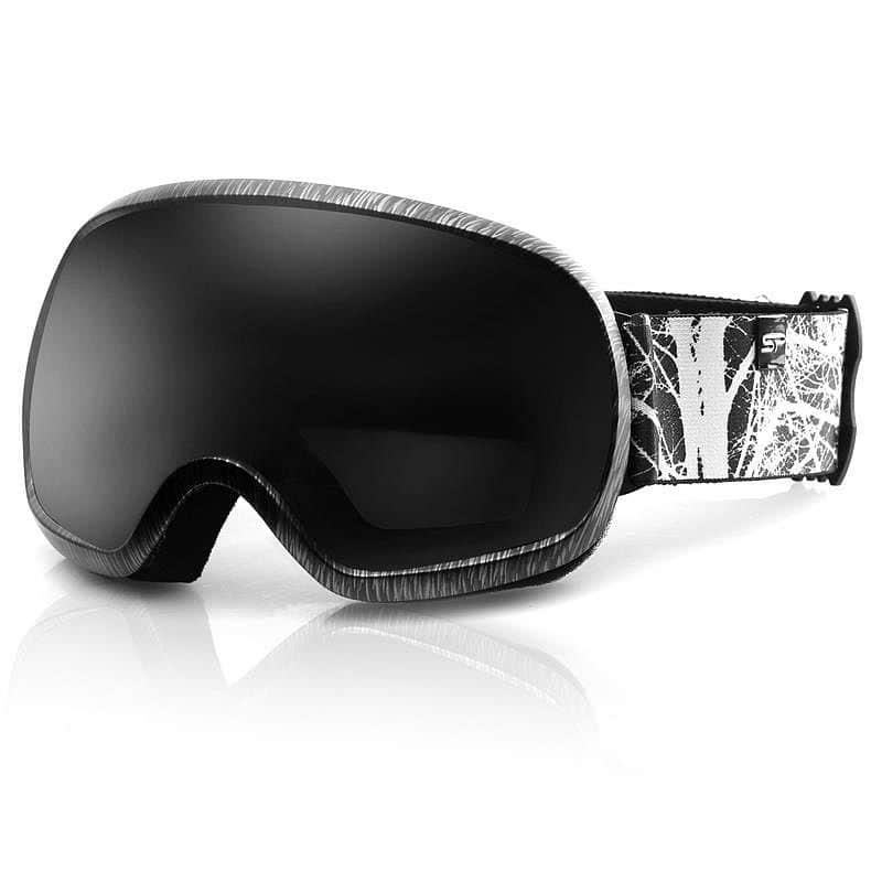 Spokey PARK lyžařské brýle černo-bílé