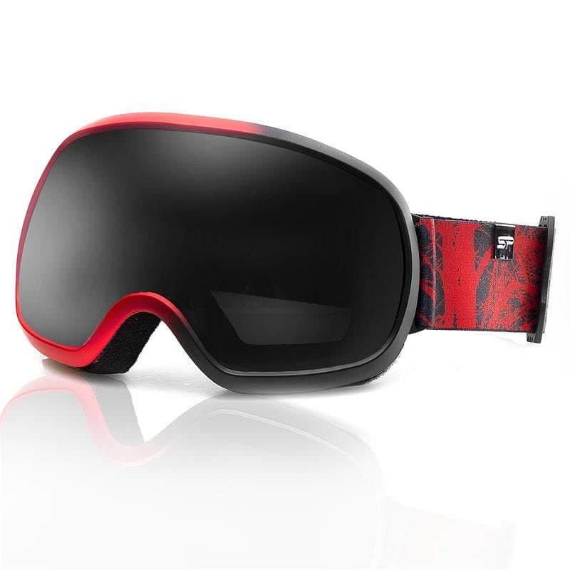 Spokey PARK lyžařské brýle černo-červené