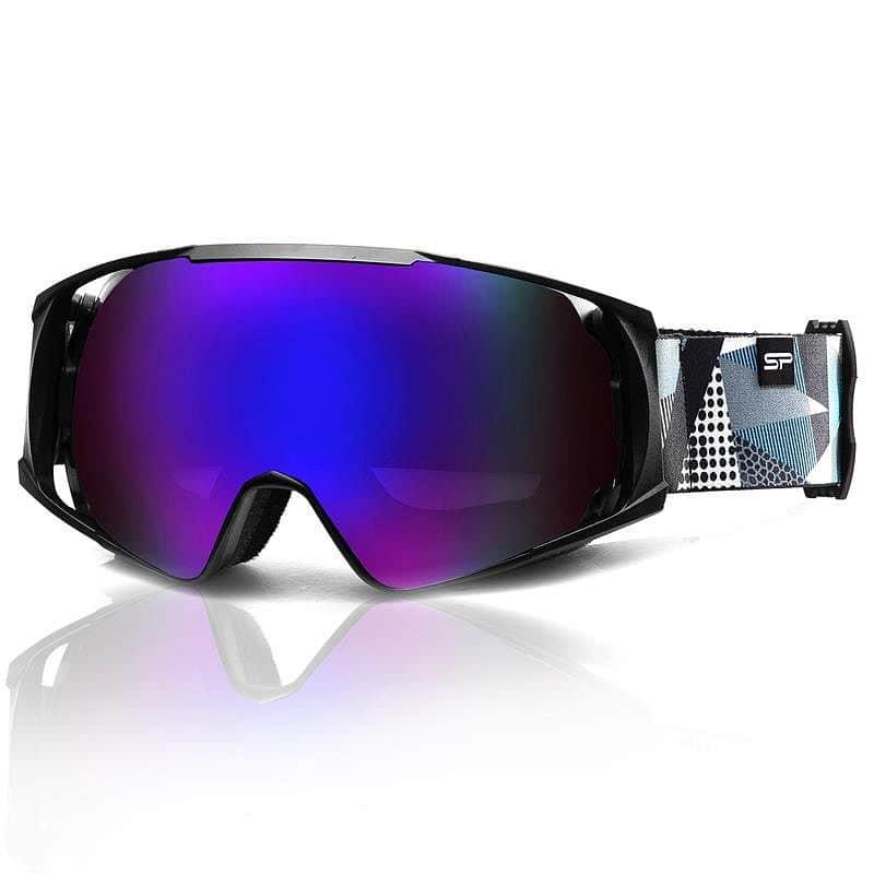 Spokey DENNY lyžařské brýle černo-šedo-bílé