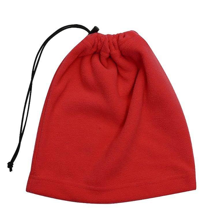 Multifunkční šátek 2v1 Fleece, červený