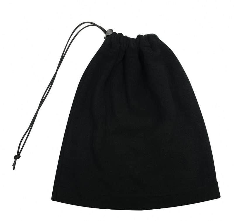 Multifunkční šátek 2v1 Fleece, černý