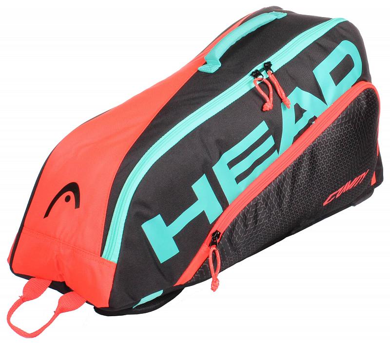 Junior Combi Gravity dětská taška na rakety barva: černá-červená