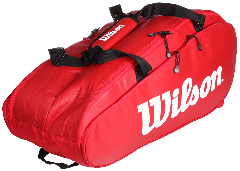 Tour 2 Comp Large 2019 taška na rakety barva: červená
