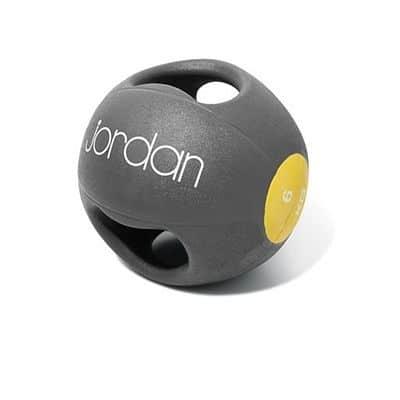 Medicinball JORDAN s dvojtým úchopem 6 kg žlutý