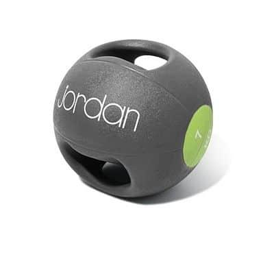 Medicinball JORDAN s dvojtým úchopem 7 kg zelený