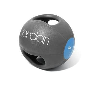 Medicinball JORDAN s dvojtým úchopem 9 kg modrý