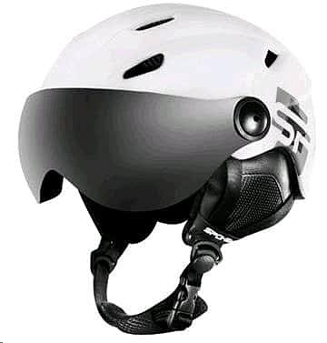 Levně Spokey JASPER lyžařská přilba s čelním sklem, černá, vel. S-XL Velikost: L/XL