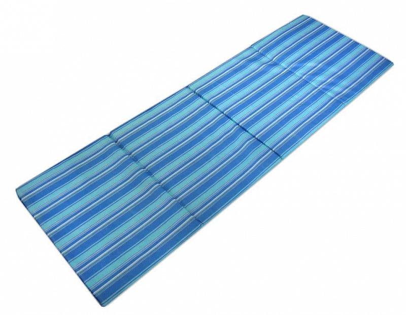 Čtyřdílné skládací plážové lehátko Sedco STRIPES - Modrá