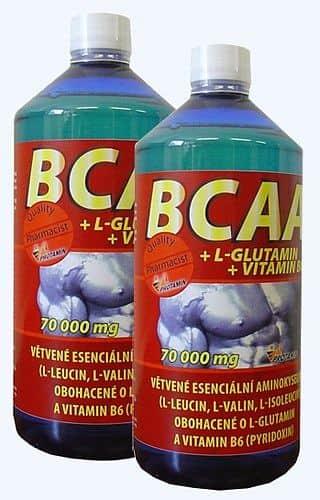 BCAA + L-glutamin + Vitamin B6 70 000mg 1000ml, pomeranč