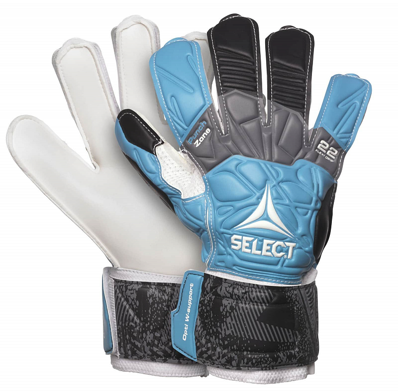 GK gloves 22 Flexi Grip brankářské rukavice barva: modrá-černá;velikost (obuv / ponožky): vel. 9