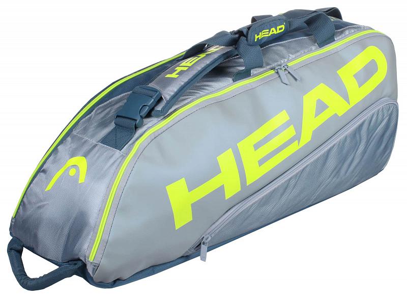Tour Team Extreme 6R Combi 2021 taška na rakety barva: šedá-žlutá