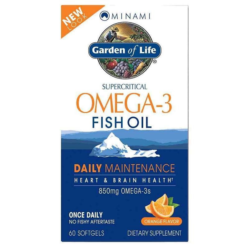 Garden of Life Minami Nutrition Omega-3 EPA-DHA pomeranč 60 tablety