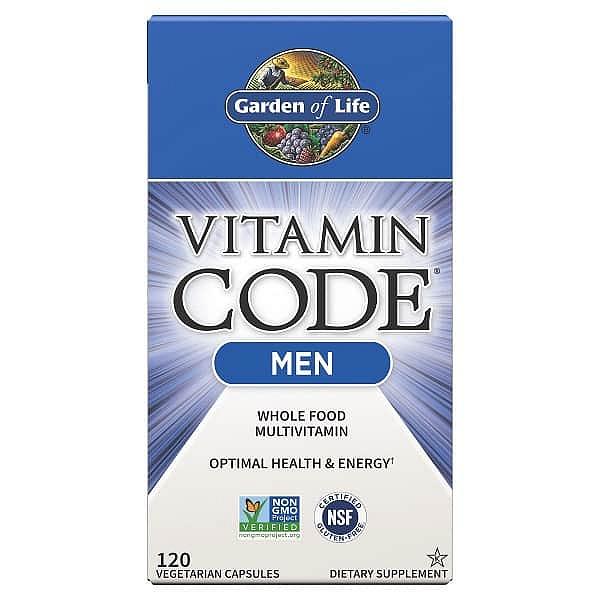 Garden of Life Vitamin Code RAW multivitamín pro muže 120 kapslí