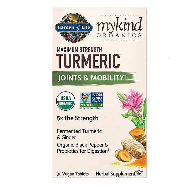 Garden of Life Mykind Organics Maximum Strength Turmeric - Kurkuma - Pohyblivost a klouby -30 tablet
