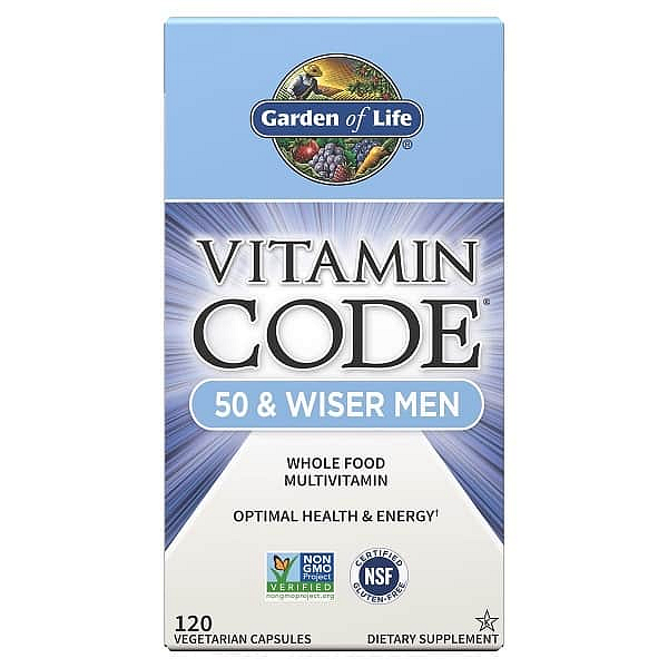 Garden of Life Vitamin Code RAW - pro muže po padesátce 120 kapslí