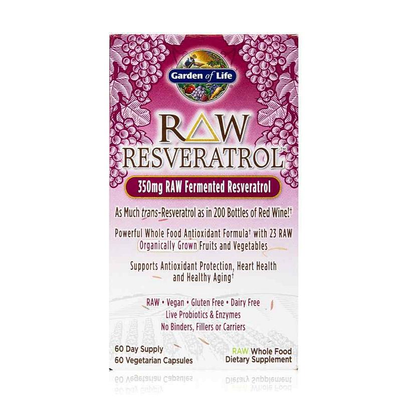 Garden of Life RAW Resveratrol 60 kapslí